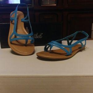Bonnibel Turquoise flat sandal
